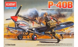 P-40B Curtiss, Warhawk, Tomahawk IIA - ACADEMY 12456 1/72