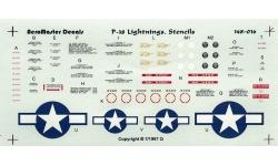P-38 Lockheed, Lightning - AEROMASTER 148-016 1/48