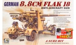8.8 cm Flak 18,  Krupp, Rheinmetall - AFV CLUB AF35088 1/35