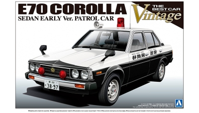 Toyota Corolla E70 Sedan 1980 - AOSHIMA 010846 THE BEST CAR VINTAGE No. 36 1/24