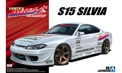 Nissan Silvia S15 1999 - AOSHIMA 052143 TUNED CAR No. 8 1/24 PREORD