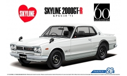 Nissan Skyline 2000GT-R Hardtop (KPGC10) 1971 - AOSHIMA 052327 MODEL CAR No. 26 1/24 PREORD