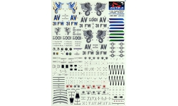 F-16C Lockheed Martin, Fighting Falcon - ASTRA DECALS ASD-4807 1/48