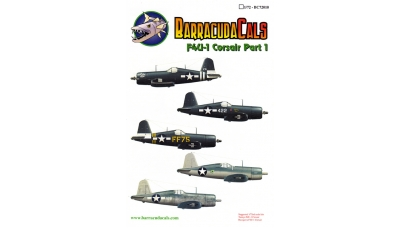 F4U-1/1A Corsair - BARRACUDACALS BC72010 1/72