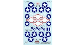 F4F-4 Grumman, Wildcat - CAM DECALS 48-111 1/48