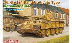 Panther, Panzerkampfwagen V, Sd.Kfz. 171, Ausf. A, MAN - DRAGON 6168 1/35