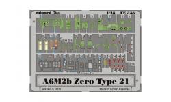 Фототравление для A6M2b Type 21 Mitsubishi, Zero-sen (HASEGAWA) - EDUARD 49358 1/48