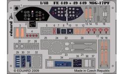 Фототравление для МиГ-17ПФ (HOBBY BOSS) - EDUARD 49449 1/48