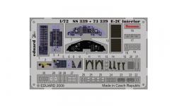 Фототравление для E-2C Northrop Grumman, Hawkeye (HASEGAWA) - EDUARD 73339 1/72