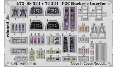 Фототравление для T-2C/E North American, Buckeye (WOLFPACK DESIGN) - EDUARD SS534 1/72