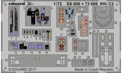 Фототравление для Kfir C-2/C-7 IAI (AMK) - EDUARD SS606 1/72