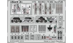Фототравление для Су-27УБ Сухой (ЗВЕЗДА) - EDUARD SS652 1/72