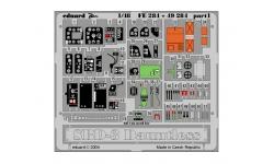 Фототравление для SBD-3 Douglas, Dauntless (ACADEMY, ACCURATE MINIATURES, ITALERI) - EDUARD 49284 1/48