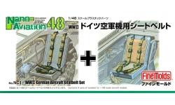 Ремни пристяжные самолетов Люфтваффе 1939-1945 гг - FINE MOLDS NC1 Nano Aviation 1/48