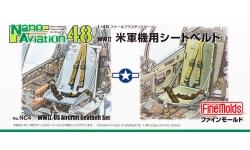 Ремни пристяжные самолетов ВВС США Второй Мировой Войны - FINE MOLDS NC4 Nano Aviation 1/48