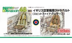 Ремни пристяжные самолетов Великобритании 1939-1945 гг - FINE MOLDS NC6 Nano Aviation 1/48