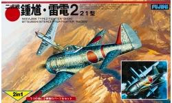 Ki-44-I Nakajima, Shoki &  J2M3 Model 21 Mitsubishi, Raiden - FUJIMI 14404 1/144
