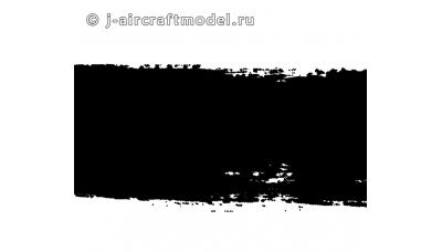 Краска MR.HOBBY H12 водоразбавляемая, черная матовая, основная, 10 мл