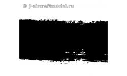 Краска MR.HOBBY H77 водоразбавляемая, черная матовая, для окраски покрышек колес, 10 мл