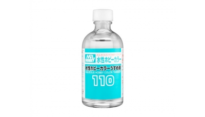 Разбавитель для красок на водной основе - AQUEOUS COLOR THINNER, 110 мл - MR.HOBBY T110