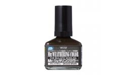 Смывка MR.WEATHERING COLOR WC02, темно-коричневая, 40 мл - MR.HOBBY