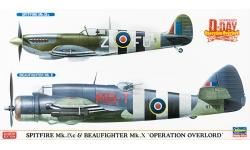 Spitfire Mk IXc Supermarine & Beaufighter Mk X Bristol - HASEGAWA 02087 1/72