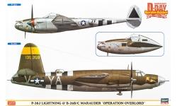 P-38J Lockheed, Lightning & B-26 B/C Martin, Marauder - HASEGAWA 02091 1/72