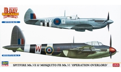 Spitfire Mk VII Supermarine & Mosquito FB Mk VI De Havilland - HASEGAWA 02096 1/72