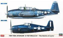 TBF/TBM-1C, Avenger &  F6F-3/5, Hellcat Grumman (GM) - HASEGAWA 02162 1/72