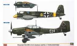 Hs 129B-1/2 Henschel & Ju 87G-2 Junkers - HASEGAWA 07409 1/48