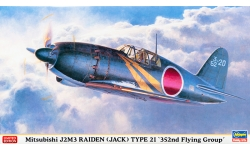 J2M3 Model 21 Mitsubishi, Raiden - HASEGAWA 09977 1/48