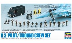 Экипаж и наземная команда. ВВС США - HASEGAWA 35007 X72-7 1/72