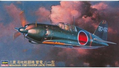 J2M3 Model 21 Mitsubishi, Raiden - HASEGAWA 09145 JT45 1/48