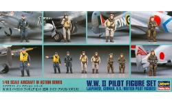 Фигурки пилотов Второй Мировой Войны - HASEGAWA 36007 X48-7 1/48