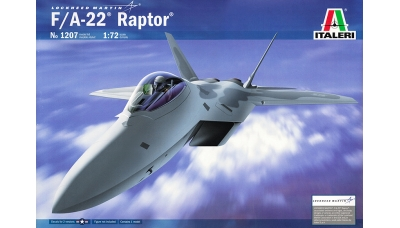 F-22A Lockheed Martin, Raptor - ITALERI 1207 1/72