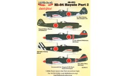 Ki-84-Ia Nakajima, Hayate, Frank - LIFELIKE DECALS 48-031 1/48