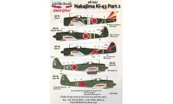 Ki-43-Ic / IIb (Otsu) / IIIa (Kou) Nakajima, Hayabusa - LIFELIKE DECALS 48-042 1/48