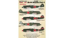 Ki-84-Ia Nakajima, Hayate, Frank - LIFELIKE DECALS 72-027 1/72