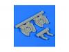 Ki-45 KAI Kawasaki, Toryu. Патрубки выхлопные. Конверсионный набор (HASEGAWA) - QICKBOOST QB48571 1/48