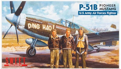 P-51B North American Aviation, Mustang - SWEET 14116-1000 1/144
