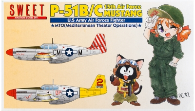 P-51B/C North American Aviation, Mustang - SWEET 14118-1000 1/144