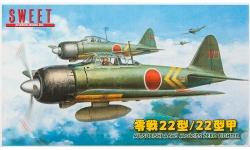 A6M3a Type 22/22a (Kou) Mitsubishi - SWEET 14122-1200 1/144