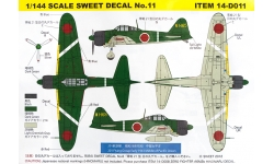 A6M2b Type 21 Mitsubishi - SWEET 14-D011 1/144