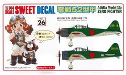 A6M5a Type 52a (Kou) Mitsubishi - SWEET 14-D026 1/114