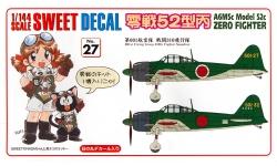 A6M5c Type 52c (Hei) Mitsubishi - SWEET 14-D027 1/144