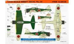 A6M2b Type 21 Mitsubishi - SWEET 14-D036 1/144