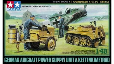 Kettenkrad HK 101, Sd.Kfz. 2, NSU & Anlassgerät 600 W auf Karren - TAMIYA 32533 1/48