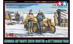 Kettenkrad HK 101, Sd.Kfz. 2, NSU & Фигурки пилотов Люфтваффе - TAMIYA 32412 1/48