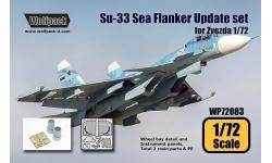 Су-33 Сухой. Конверсионный набор (ЗВЕЗДА) - WOLFPACK DESIGN WP72083 1/72