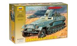 Sd.Kfz. 251/10, Ausf. B, Hanomag & 3,7 cm PaK 36 - ЗВЕЗДА 3588 1/35